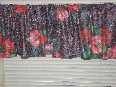 Pretty Paisley Poppy Flowers Pattern Window Valance/window Treatment Home  Decor | Ebay For Floral Pattern Window Valances (View 33 of 50)
