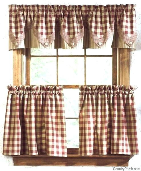 Primitive Kitchen Curtains – Boursefacile In Farmhouse Stripe Kitchen Tier Pairs (View 26 of 30)