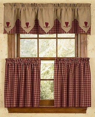 "Primitive Park Designs Sturbridge Plaid Tiers Wine 36"" Lined Throughout Burgundy Cotton Blend Classic Checkered Decorative Window Curtains (View 25 of 30)"