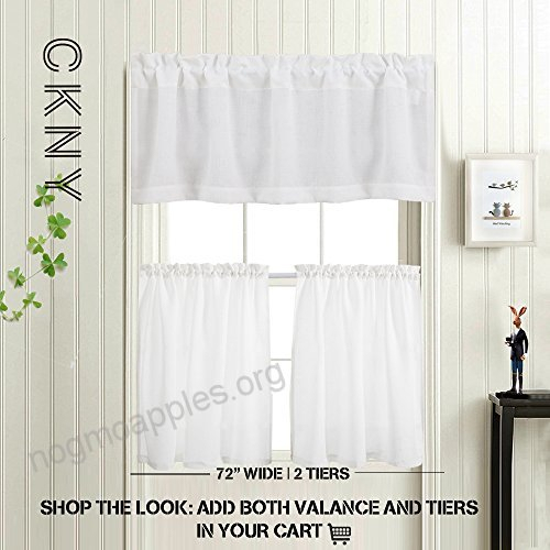 Privacy 18 Inch Valance For Bathroom Short Privacy Semi Pertaining To Semi Sheer Rod Pocket Kitchen Curtain Valance And Tiers Sets (View 46 of 50)