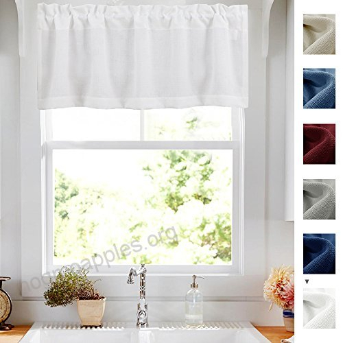 Privacy 18 Inch Valance For Bathroom Short Privacy Semi Within Semi Sheer Rod Pocket Kitchen Curtain Valance And Tiers Sets (View 18 of 50)