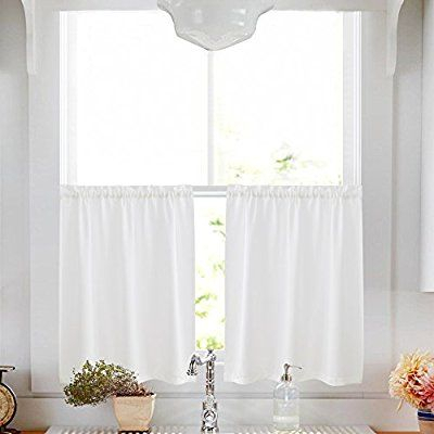 Privacy Thick Kitchen Tiers Semi Sheer Café Curtains Rod For Linen Stripe Rod Pocket Sheer Kitchen Tier Sets (#33 of 46)