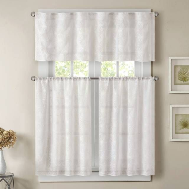 Product Image For Madison Park Gemma Sheer Window Curtain For Micro Striped Semi Sheer Window Curtain Pieces (#14 of 30)