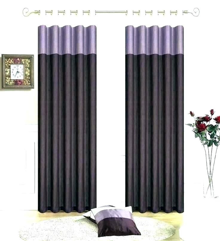 Purple Sheer Curtains With Floral Embroidered Faux Silk Kitchen Tiers (View 41 of 50)