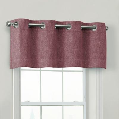 Quinn 100% Blackout Window Valance In Eggplant | Products In Pertaining To Modern Subtle Texture Solid White Kitchen Curtain Parts With Grommets Tier And Valance Options (View 33 of 50)