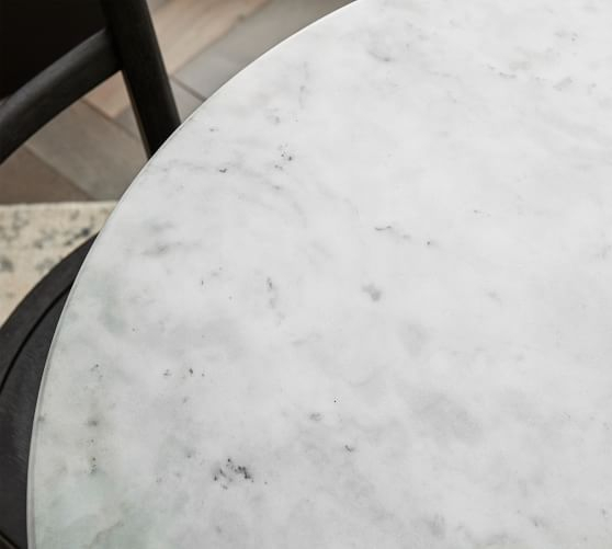 "Rae Round Marble Bistro Tables Intended For Best And Newest 2019 的 Rae Marble Bistro Table, Antique Bronze, 32"" D 主题 (#15 of 20)"