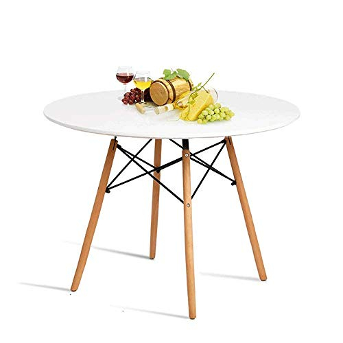 Inspiration about Rae Round Pedestal Dining Tables Intended For Favorite Hyhome Kitchen Dining Table Round Coffee Table Modern Leisure Wood Tea  Table Office Conference Pedestal Desk With Natural Wooden Legs And Mdf Top (#20 of 30)