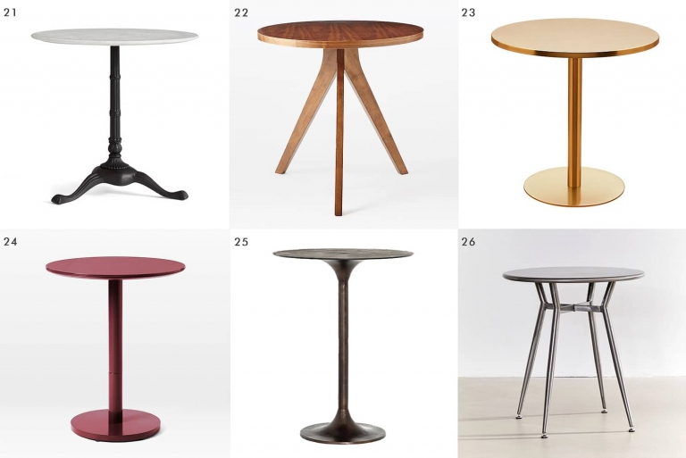 Rae Round Pedestal Dining Tables Regarding Popular 44 Dining Tables For When You're Short On Space – Yellow (#21 of 30)