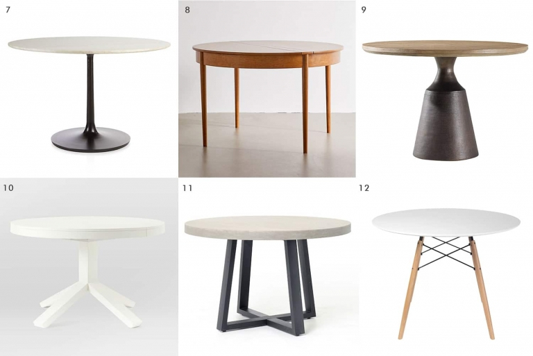 Rae Round Pedestal Dining Tables Regarding Well Known 44 Dining Tables For When You're Short On Space – Yellow (#22 of 30)