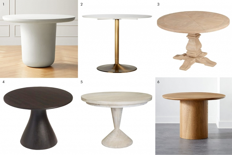 Inspiration about Rae Round Pedestal Dining Tables Throughout Recent 44 Dining Tables For When You're Short On Space – Yellow (#10 of 30)
