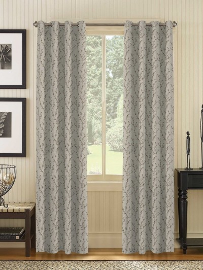 Ready Made Curtains Online In India – D'decor Regarding Pastel Damask Printed Room Darkening Kitchen Tiers (#35 of 50)
