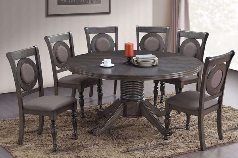Inspiration about Recent Avery Round Dining Tables Inside 5 Pc Avery Dining Set (#17 of 20)