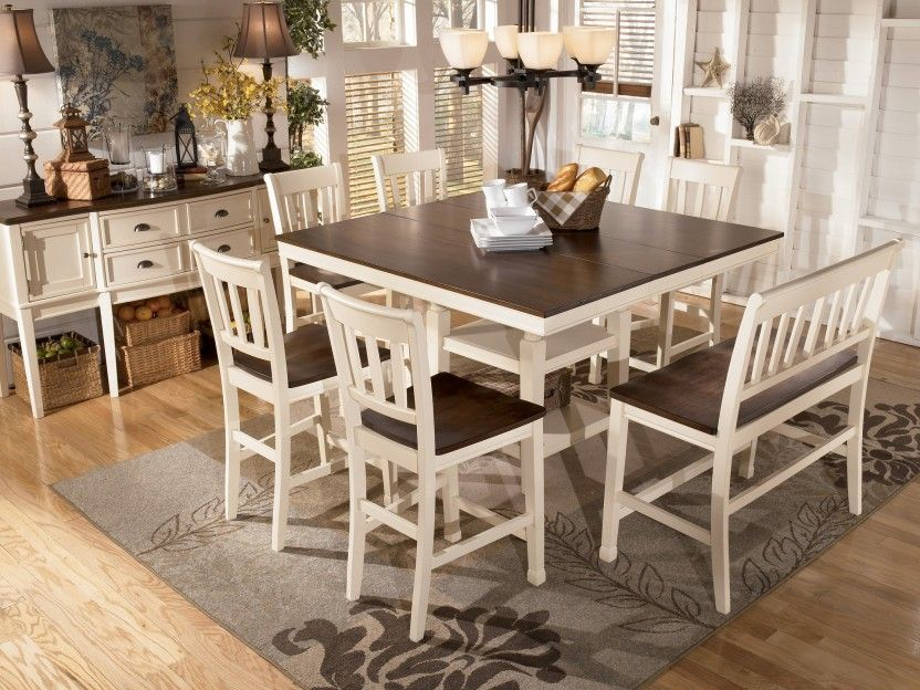 Inspiration about Recent Benchwright Counter Height Tables Regarding Transitional Breakfast Room With Bar Height Table (#16 of 20)