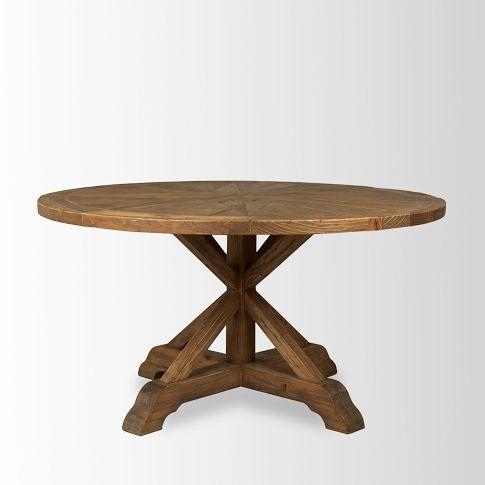 Recent Bleached Pine Round Dining Table – West Elm Pertaining To Nolan Round Pedestal Dining Tables (#24 of 30)