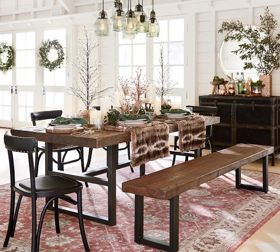 Inspiration about Recent Griffin Reclaimed Wood Dining Tables Throughout Griffin Reclaimed Wood Fixed Dining Table In 2019 (#3 of 30)