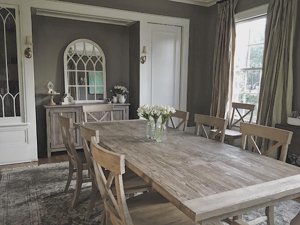 Inspiration about Recent High Or Low // Farmhouse Table Sets – My 100 Year Old Home For Seadrift Toscana Pedestal Extending Dining Tables (#18 of 30)