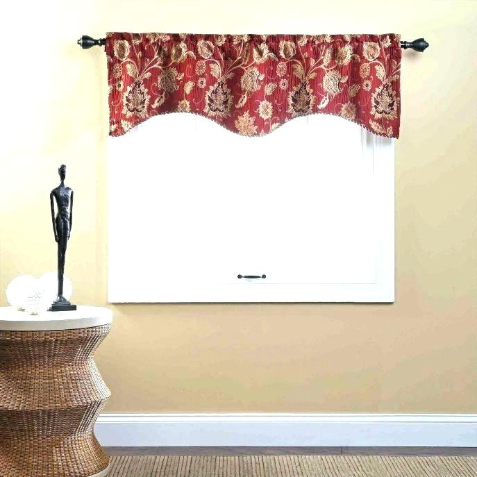 Inspiration about Red Kitchen Curtains And Valances – Paultay.co In Modern Subtle Texture Solid Red Kitchen Curtains (#25 of 50)