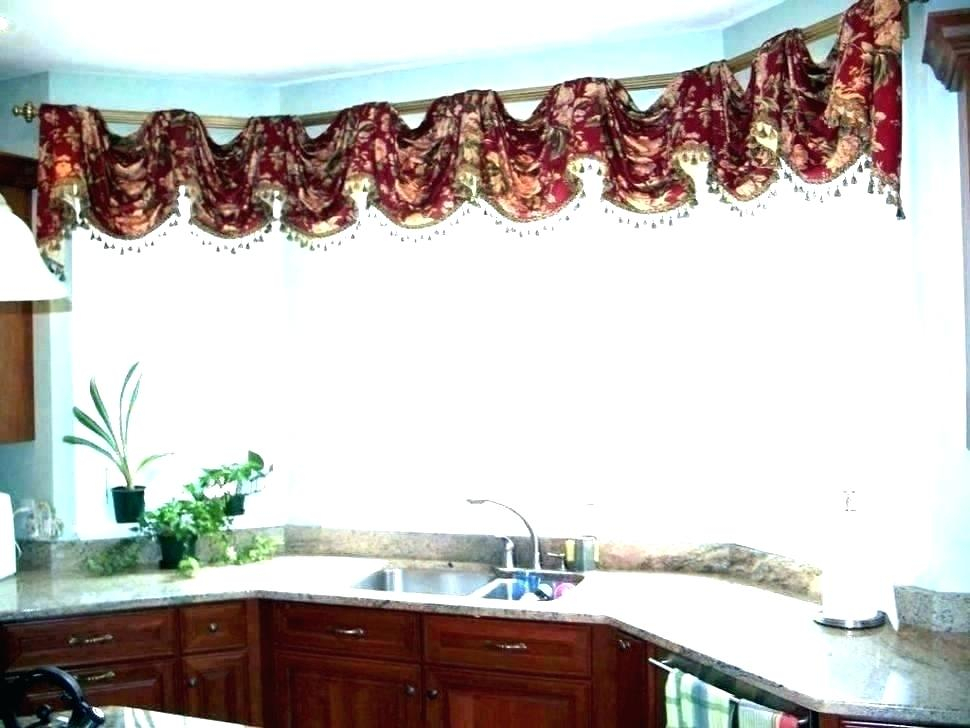 Inspiration about Red Kitchen Curtains And Valances – Paultay.co Pertaining To Modern Subtle Texture Solid Red Kitchen Curtains (#5 of 50)