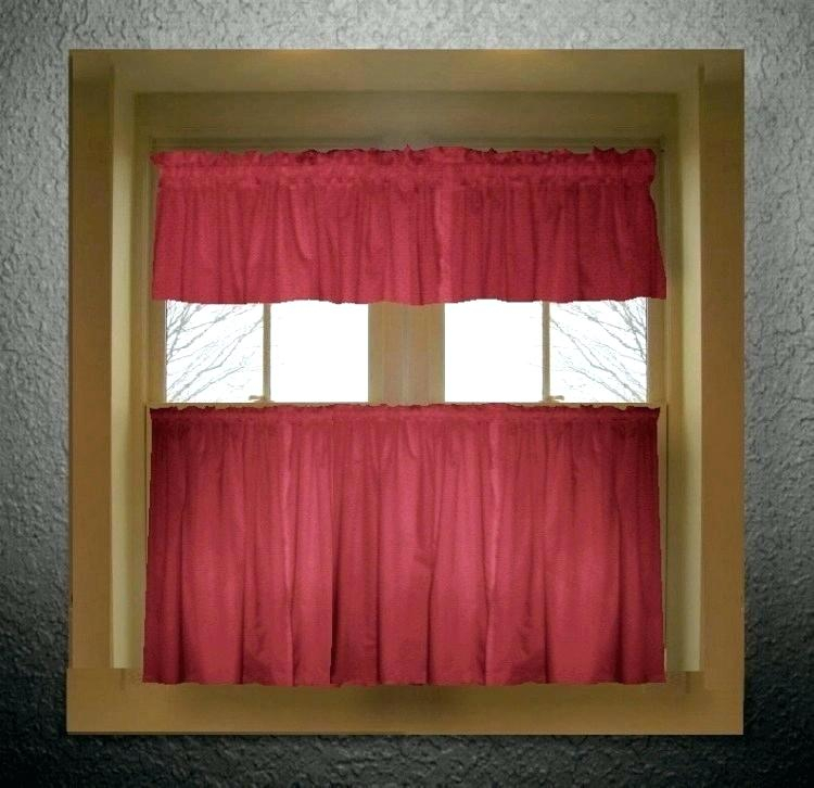 Inspiration about Red Kitchen Curtains And Valances – Paultay.co Within Modern Subtle Texture Solid Red Kitchen Curtains (#4 of 50)