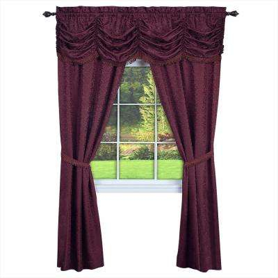 Red – Novelty – Rod Pocket – Curtains & Drapes – Window For 5 Piece Burgundy Embroidered Cabernet Kitchen Curtain Sets (#46 of 50)
