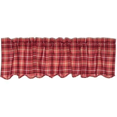 Red Rustic & Lodge Kitchen Curtains Harvey Cabin Valance Rod Pocket Cotton  | Ebay With Red Rustic Kitchen Curtains (#21 of 30)