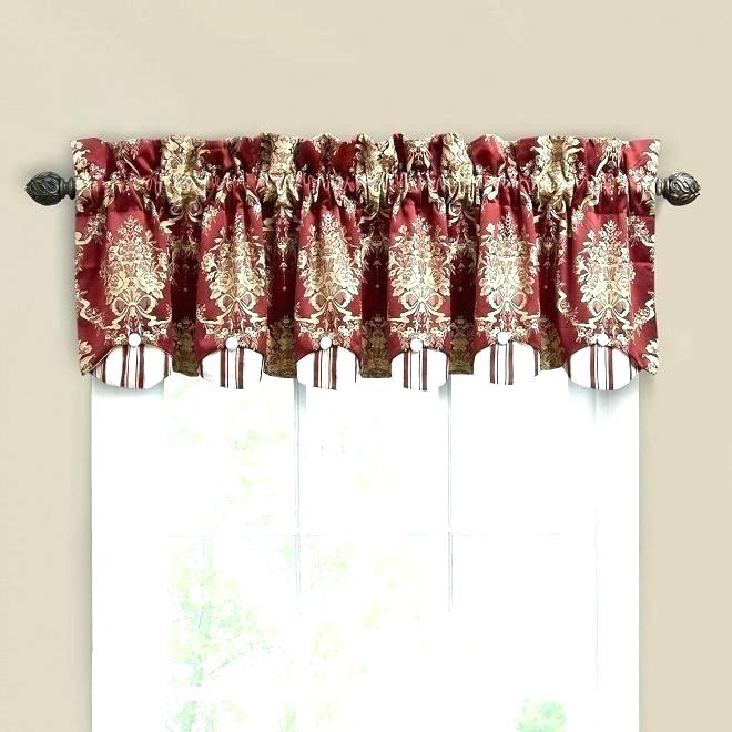 Inspiration about Red Valances For Kitchen Windows – Rockwear For Modern Subtle Texture Solid Red Kitchen Curtains (#14 of 50)