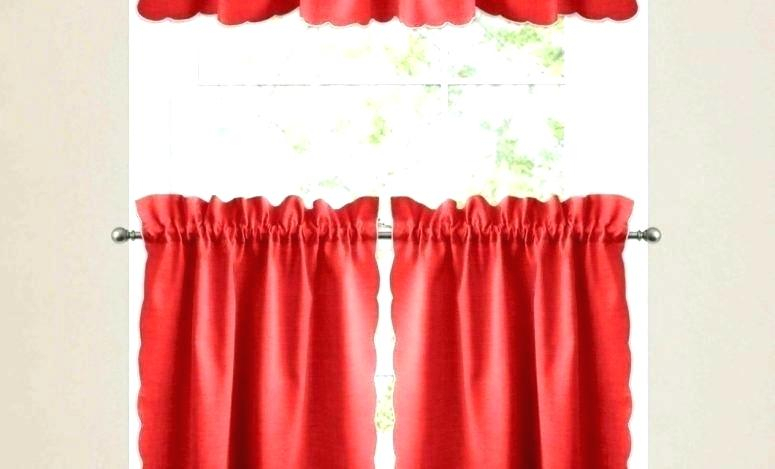 Inspiration about Red Valances For Kitchen Windows – Rockwear Pertaining To Modern Subtle Texture Solid Red Kitchen Curtains (#11 of 50)