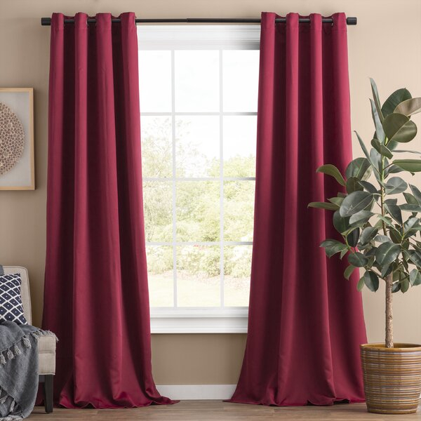 Inspiration about Red Willow Curtains | Wayfair Intended For Modern Subtle Texture Solid Red Kitchen Curtains (#43 of 50)