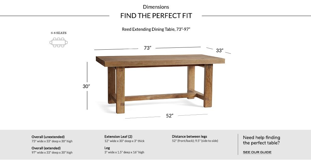 Reed Extending Dining Table Within Popular Reed Extending Dining Tables (View 10 of 30)