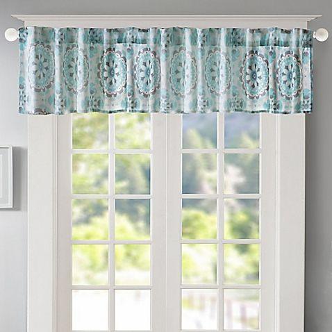 Regency Heights Penelope Medallion Window Valance In Within Medallion Window Curtain Valances (#35 of 48)