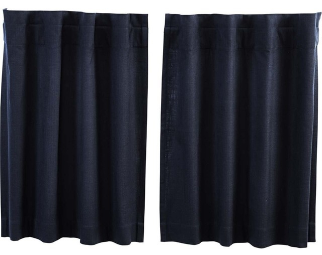 "Inspiration about Regina Navy Tier Curtains, Set Of 2, 36""x36"" Within Wallace Window Kitchen Curtain Tiers (#19 of 29)"