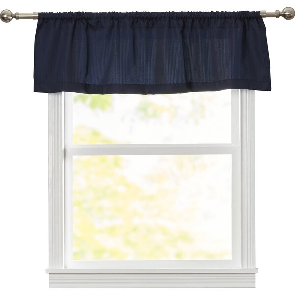 "Reinhardt Rod Pocket Tailored 54"" Window Valance Regarding Rod Pocket Cotton Solid Color Ruched Ruffle Kitchen Curtains (#18 of 30)"