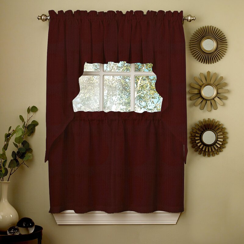 Ribcord Kitchen Tier Curtain Pertaining To Kitchen Curtain Tiers (View 46 of 50)