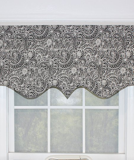 Inspiration about Rlf Home Black Paisley Mod Regal Valance With Regard To Grandin Curtain Valances In Black (#19 of 30)