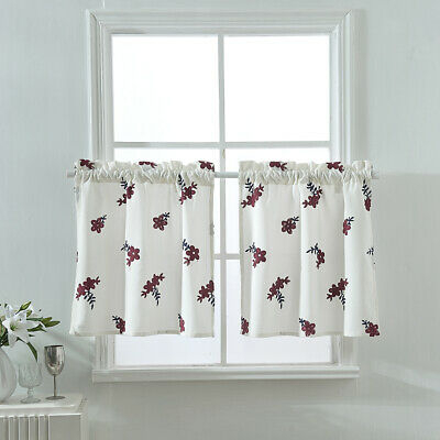 Rod Pocket Plaid Half Window Short Cafe Tier Curtains Panels Regarding Light Filtering Kitchen Tiers (View 39 of 50)