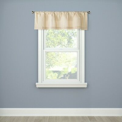 Room Essentials Twill Ginger Zip Window Curtain Valance With Luxury Light Filtering Straight Curtain Valances (View 31 of 47)