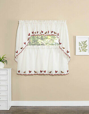 Inspiration about Rooster Kitchen Curtains Swag Valance Tiers Country In Luxurious Kitchen Curtains Tiers, Shade Or Valances (#19 of 50)