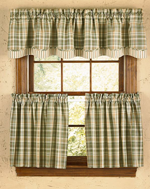 Rosemary Lined Layered Curtain Valance In 2019 | Country For Country Style Curtain Parts With White Daisy Lace Accent (View 47 of 50)