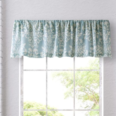 """Rowland 86"""" Curtain Valance   Laura Ashley Rowland, Valance Throughout Floral Watercolor Semi Sheer Rod Pocket Kitchen Curtain Valance And Tiers Sets (View 40 of 50)"""