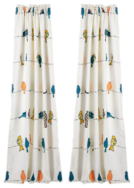 Inspiration about Rowley Birds Room Darkening Window Curtain Multi Set 52X84+2 For Rowley Birds Valances (#41 of 50)