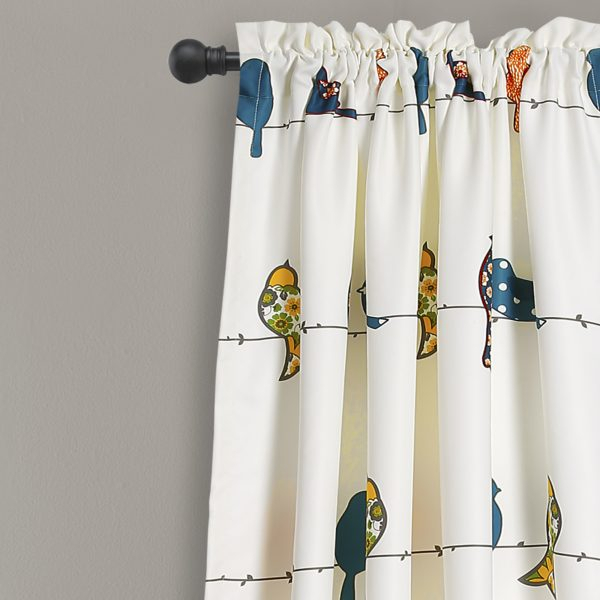 Inspiration about Rowley Birds Window Curtain Set. 50% Off 2Pc Set Plus Free For Rowley Birds Valances (#21 of 50)
