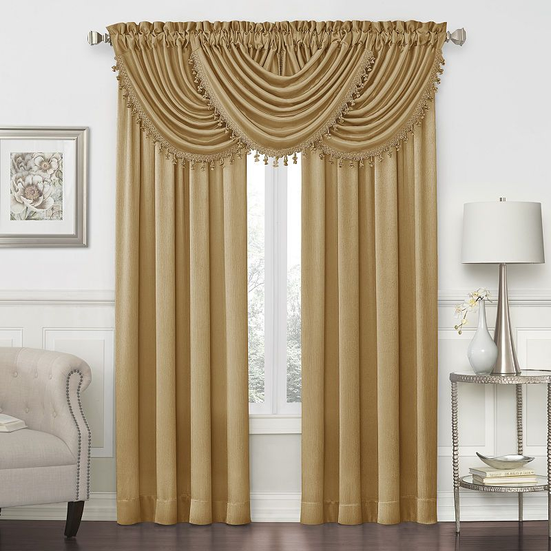 Royal Velvet Hilton Rod Pocket Waterfall Valance In 2019 Intended For Luxury Light Filtering Straight Curtain Valances (View 17 of 47)