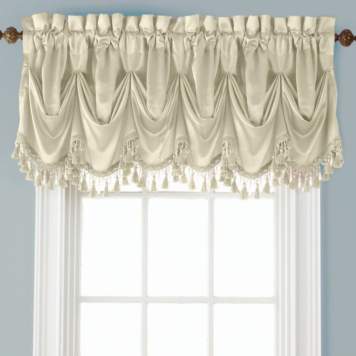 Inspiration about Royal Velvet Royal Velvet Hilton Rod Pocket Tuck Valance Intended For Marine Life Motif Knitted Lace Window Curtain Pieces (#9 of 48)