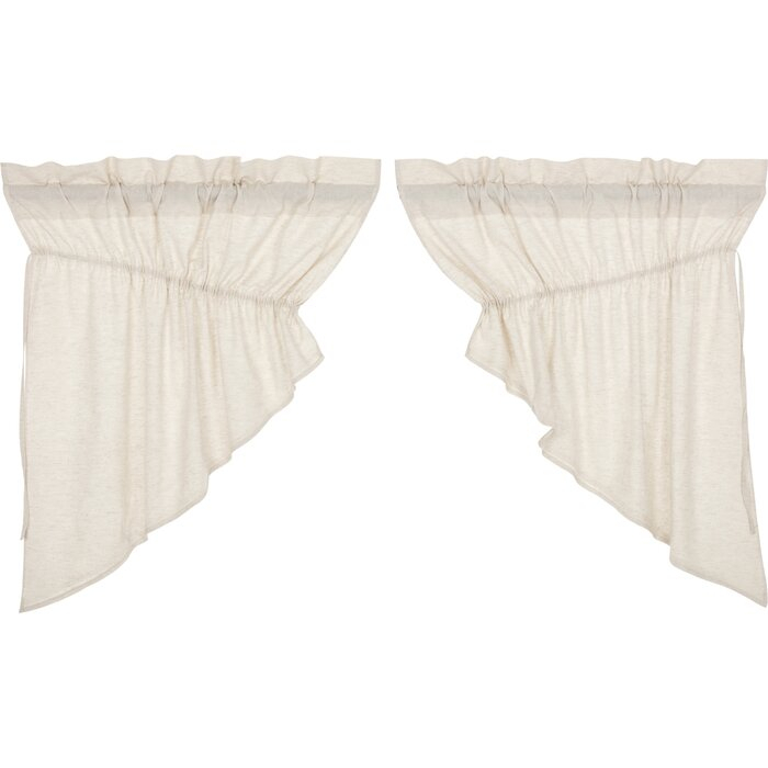 "Rucker Solid Color Prairie Swag 36"" Window Valance Pertaining To Rod Pocket Cotton Solid Color Ruched Ruffle Kitchen Curtains (#19 of 30)"