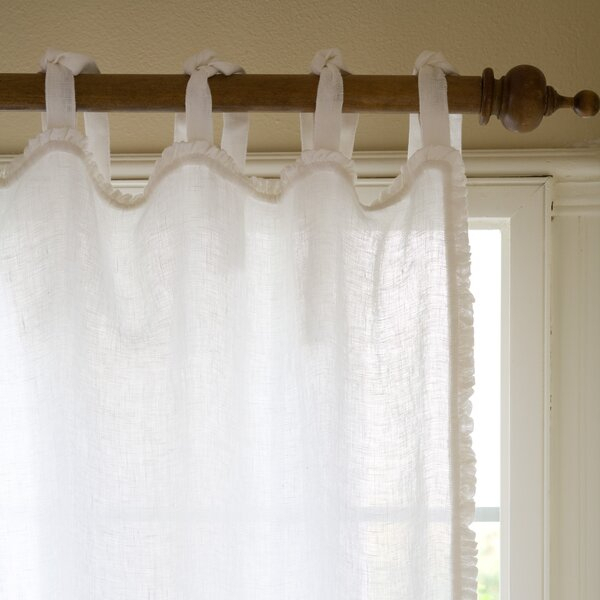 Ruffled Sheers | Wayfair With Regard To Rod Pocket Cotton Solid Color Ruched Ruffle Kitchen Curtains (#20 of 30)