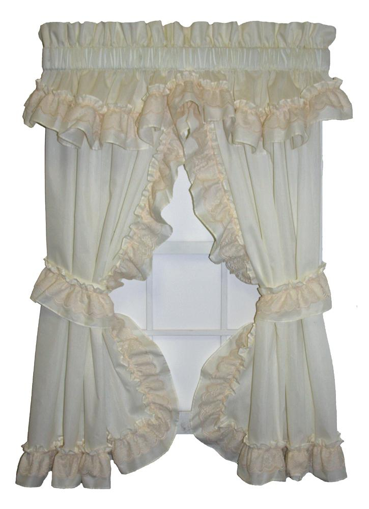 Inspiration about Ruffled Window Curtains – Dealerhondacijantung.club Regarding Vertical Ruffled Waterfall Valance And Curtain Tiers (#22 of 30)