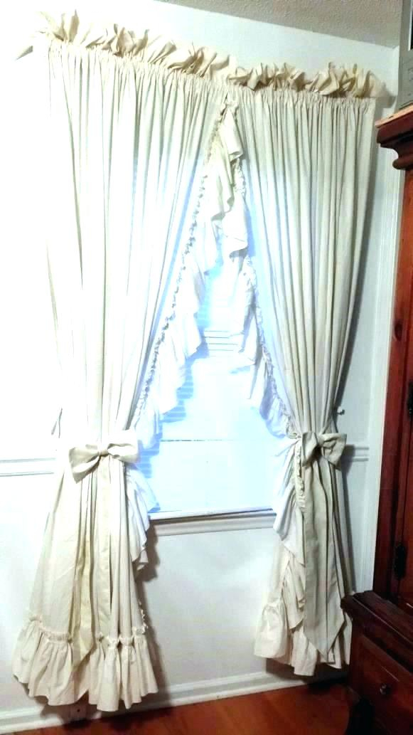 Inspiration about Ruffled Window Curtains – Dealerhondacijantung.club Regarding Vertical Ruffled Waterfall Valance And Curtain Tiers (#20 of 30)