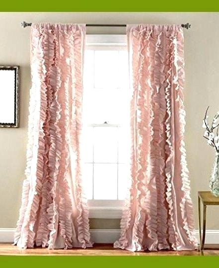 Ruffled Window Curtains Ruffled Window Curtains Sweet Pink With Chic Sheer Voile Vertical Ruffled Window Curtain Tiers (View 20 of 50)