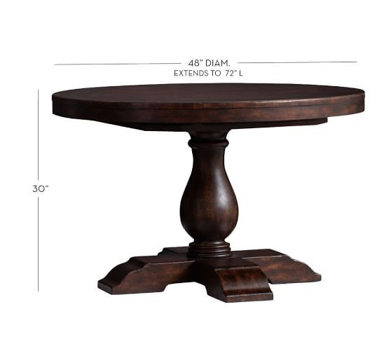 Inspiration about Rustic Brown Lorraine Extending Dining Tables Inside 2020 Lorraine Extending Pedestal Dining Table, Hewn Oak (#4 of 20)
