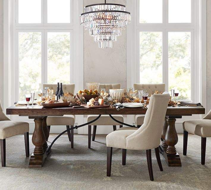 Inspiration about Rustic Brown Lorraine Extending Dining Tables With Regard To Favorite Lorraine Extending Dining Table, Rustic Brown In 2019 (#2 of 20)